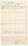 1892 February 11: Voucher, U.S. v. John Chambers; includes costs of service of subpoena; William Woodard, witness; D.C. Dye, deputy marshal; Jacob Yoes, U.S. marshal
