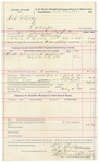 1892 February 09: Voucher, U.S. v. Simp Calloway, contempt; includes costs of service of warrant, mileage on writ, feeding prisoner;  B.T. Shelburn, deputy marshal; C.L. Wirth, commissioner; Stephen Wheeler, clerk; Jacob Yoes, U.S. marshal