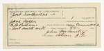 1892 February 07: Voucher, U.S. v. One Miller, introducing spirituous liquors; includes costs of service as guard, service of warrant, feeding prisoner; John McMurty, guard;  E.B. Ratterree, deputy marshal