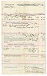 1892 February 15: Voucher, U.S. v. John Doyle, larceny; includes costs of service of warrant, feeding prisoner; Bud Kell, Theo Brewer, Mrs. William Whincey, A.A. McPhee, witnesses;  John W. Yoes, deputy marshal; Stephen Wheeler, commissioner; Jacob Yoes, U.S. marshal