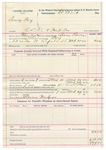 1892 March 29: Voucher, U.S. v. Sunny Boy, retail liquor distributor and introducing spirituous liquors; includes costs of includes costs of service as guard, service of warrant, mileage on writ; Clarence Warden, posse comitatus;  Bass Reeves, deputy marshal