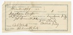 1892 February 13: Voucher, U.S. v. Jackson Cooper, introducing spirituous liquors; includes costs of service as guard, service of warrant, mileage on writ; William Clark, guard;  J.H. Shaw, deputy marshal; Stephen Wheeler, commissioner; J.M. Dodge, deputy clerk; G.S. White, witness to signature