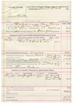 1892 March 07: Voucher, U.S. v. James Barnett, larceny; includes costs of service of warrant, mileage on writ; William Arnold, Henry Meek, One Barnett, witnesses; Clarence Warden, posse comitatus; Bass Reeves, deputy marshal