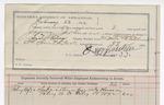 1892 February 22: Voucher, U.S. v. James Johnson, larceny; includes costs of service of warrant, mileage on writ, feeding prisoner; A.J. Vaught, Scott Carney, A.P. Thompson, witnesses; J.W. Cantrell, guard; S.J. Minor, deputy marshal; Stephen Wheeler, commissioner; Jacob Yoes, U.S. marshal