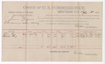 1892 February 23: Voucher, U.S. v. James Rogers, introducing and selling whiskey; includes costs of per diem and mileage; Tom Peg, Black Fox, witnesses; George Cooper, witness to signatures; Jacob Yoes, U.S. marshal; E.B. Harrison, commissioner; Stephen Wheeler, clerk