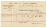 1892 February 25: Voucher, U.S. v. Stanley Thomas, introducing spirituous liquors; includes costs of per diem and mileage; August Foster, Lewis Barnes, witnesses; Jacob Yoes, U.S. marshal; Stephen Wheeler, commissioner