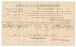1892 February 26: Voucher, U.S. v. Jesse Jackson, introducing spirituous liquors; includes costs of per diem and mileage; William Barnes, Frank Clyma, witnesses; Jacob Yoes, U.S. Marshal; Stephen Wheeler, commissioner