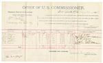 1892 February 26: Voucher, U.S. v. William Sockie, larceny; includes costs of per diem and mileage; J.W. Slager, Jesse Rogers, T.A. Mizer, Thomas Deeker, J.H. Irwin, witnesses; R.B. Cucknin, witness to signatures; Jacob Yoes, U.S. marshal; James Brizzolara, commissioner; Stephen Wheeler, clerk; William H.H. Clayton, U.S. district attorney