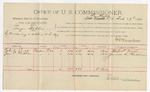 1892 February 29: Voucher, U.S. v. George Waller, introducing spirituous liquors; includes costs of per diem and mileage; Robert Couch, James C. Chittin, witnesses; Jacob Yoes, U.S. marshal; E.B. Harrison, commissioner; Stephen Wheeler, clerk