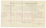 1892 February 29: Voucher, U.S. v. Thomas Williams, assault with intent to kill; includes costs of per diem and mileage; L.J. Reynolds, Martha Root, James Root, witnesses; R.B. Cucknin, witness to signature; Jacob Yoes, U.S. marshal; James Brizzolara, commissioner