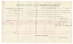 1892 March 01: Voucher, U.S. v. William Payne et al., murder; includes costs of per diem and mileage; William Mood, witness; Jacob Yoes, U.S. marshal; James Brizzolara, commissioner; Stephen Wheeler, clerk