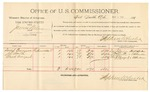 1892 March 01: Voucher, U.S. v. James Wesley, introducing spirituous liquors; includes costs of per diem and mileage; David Burrison, J.T. Smith, Mack Vineyard, witnesses; R.B. Cockran, witness to signatures; Jacob Yoes, U.S. marshal; Stephen Wheeler, commissioner