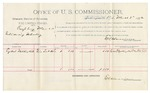 1892 March 02: Voucher, U.S. v. Raspberry Man, introducing whiskey; includes costs of per diem and mileage; Ezekiel Walkingstick, witness; George Cooper, witness of signature; Jacob Yoes, U.S. marshal; E.B. Harrison, commissioner; Stephen Wheeler, clerk