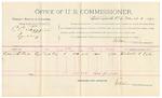 1892 March 03: Voucher, U.S. v. C.C. Scoggins, larceny; includes costs of per diem and mileage; Richard J. Peck, witness; Jacob Yoes, U.S. marshal; E.B. Harrison, commissioner; Stephen Wheeler, clerk