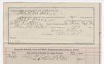 1892 March 09: Voucher, U.S. v. Robert Doss, introducing spirituous liquors; includes costs of service of guard, service of warrant; Eugene Ratterree, guard; E.B. Ratterree, deputy marshal; Stephen Wheeler, clerk; J.M. Dodge, deputy clerk; Jacob Yoes, U.S. marshal
