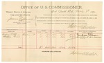 1892 March 09: Voucher, U.S. v. James Coffman, introducing spirituous liquors; includes costs of per diem and mileage; Andrew P. Shaw, Shelton Bush, witnesses; R.B. Cucknin, witness to signature; Jacob Yoes, U.S. marshal; Stephen Wheeler, commissioner