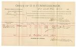 1892 March 11: Voucher, U.S. v. Tolbert Wilson, larceny; George Jennings, George Terrell, witnesses; Jacob Yoes, U.S. marshal; Stephen Wheeler, commissioner