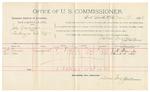1892 March 11: Voucher, U.S. v. Lewis Chrisman, larceny; includes costs of per diem and mileage; Wiley Barnes, John Cole, James H. Hanna, witnesses; Jacob Yoes, U.S. marshal; E.B. Harrison, commissioner; Stephen Wheeler, clerk
