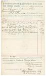 1892 March 12: Voucher, U.S. v. Joe Grammer, larceny; includes costs of per diem and mileage; J.K. French, Ben Cobb, witnesses; Jacob Yoes, U.S. marshal; James Brizzolara, commissioner; Stephen Wheeler, clerk