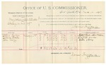 1892 March 14: Voucher, U.S. v. Thomas Guthrie, violating internal revenue laws; includes costs of per diem and mileage; Sam Lucas, George Sutherland, witnesses; Jacob Yoes, U.S. marshal; Stephen Wheeler, commissioner