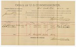 1892 March 14: Voucher, U.S. v. Mary Wheeler and Alfred Shobe, adultery; includes costs of per diem and mileage; Stephen Tucker, Barbara Brooks, Bettie Cherry, witnesses; R.B. Cucknin, witness to signature; Jacob Yoes, U.S. marshal; James Brizzolara, commissioner
