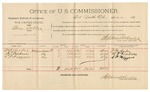 1892 March 14: Voucher, U.S. v. James F. Pryor, larceny; includes costs of per diem and mileage; J.F. Johnson, H.F. Donathan, witnesses; Jacob Yoes, U.S. marshal; Stephen Wheeler, commissioner