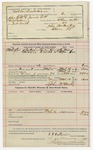 1892 March 16: Voucher, U.S. v. Eli Carselowry, introducing spirituous liquors; includes costs of per diem and mileage; William Thornton, Thomas Waity, witnesses; B.C. Cocker, witness to signature; Jacob Yoes, U.S. marshal; Stephen Wheeler, commissioner