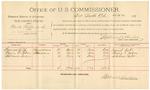 1892 March 16: Voucher, U.S. v. John Lott, James Lott, introducing spirituous liquors; includes costs of service as guard, service of warrant, mileage on writ; John McMurty, guard; E.B. Ratterree, deputy marshal; Stephen Wheeler, clerk; Jacob Yoes, U.S. marshal