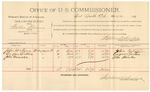 1892 March 17: Voucher, U.S. v. Jacob Unger, bigamy; includes costs of per diem and mileage; W.T. Lashbrook, W.B. Lashbrook, Jane Unger, witnesses; Jacob Yoes, U.S. marshal; Stephen Wheeler, commissioner