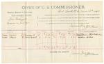 1892 February 02: Voucher, U.S. v. Ed Simmons, introducing spirituous liquor; includes costs of service as guard, service of warrant, mileage on writ; Curtis Lynch, Rhoda Lynch, Linda Kees, witnesses; J.A. Dryden, guard; J.K. Pemberton, deputy marshal; Stephen Wheeler, commissioner; J.M. Dodge, deputy clerk; Jacob Yoes, U.S. marshal