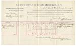 1892 March 24: Voucher, U.S. v. James Wilson, introducing spirituous liquor; includes cost of per diem and mileage; J.R. Burnett, R.C. Lyles, witnesses; Jacob Yoes, U.S. marshal; Stephen Wheeler, commissioner