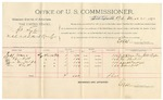 1892 March 25: Voucher, U.S. v. William Wilson, introducing spirituous liquor; includes cost of per diem and mileage; Anderson Meadow, witness; G.S. Williams, witness to signature; Jacob Yoes, U.S. marshal; Stephen Wheeler, commissioner