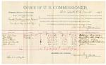 1892 March 25: Voucher, U.S. v. Al Taylor, violating internal revenue laws; Jeff Moore, Lee Burkitt, Spencer Vanderkill, Green Scott, witnesses; George Cooper, witness to signature; Jacob Yoes, U.S. marshal; E.B. Harrison, commissioner