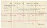 1892 March 25: Voucher, U.S. v. Elle Cone, introducing spirituous liquor; includes costs of per diem and mileage; Robert Wheeler, witness; Jacob Yoes, U.S. marshal; James Brizzolara, commissioner