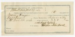 1892 March 29: Voucher, U.S. v. Isaac Frazier, retail liquor dealer and introducing spirituous liquor; U.S. v. Lillie Leno, introducing spirituous liquor; includes costs of service as guard, service of warrant, mileage on writ, feeding prisoners; Sabujaliska, witness; Clarence Warden, posse comitatus; Newland Reeves, Green Sanders, guards; Bass Reeves, deputy marshal; James Brizzolara, commissioner