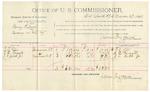 1892 March 29: Voucher, U.S. v. Henry Pulliam, larncey; includes costs of per diem and mileage; R.J. Ellis, S.D. Fugate, J.L. Gibbs Jr., witnesses; Jacob Yoes, U.S. marshal; James Brizzolara, commissioner