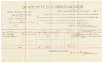 1892 March 30: Voucher, U.S. v. John McClure, carrying a pistol in Indian Country; includes costs of per diem and mileage; Joe Justice, Minerva Rogers, witnesses; John W. Yoes, witness to signatures; Jacob Yoes, U.S. marshal; James Brizzolara, commissioner
