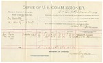 1892 March 30: Voucher, U.S. v. One Holdelsty, introducing spirituous liquor; includes cost of per diem and mileage; Thomas Lester, Paw Mosely, witnesses; S.A. Williams, witness to signature; Jacob Yoes, U.S. marshal; James Brizzolara, commissioner