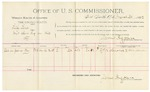 1892 March 30: Voucher, U.S. v. Lilly Leno, introducing spirituous liquor; includes cost of per diem and mileage; Sub-in Galisky, witness; S.A. Williams, witness to signature; Jacob Yoes, U.S. marshal; James Brizzolara, commissioner