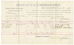 1892 March 30: Voucher, U.S. v. C.H. Wilson, assault with intent to kill; includes cost of per diem and mileage; J.H. Smalley, J.M. Hetton, James Hetton, witnesses; R.B. Cockburn, witness to signature; Jacob Yoes, U.S. marshal; James Brizzolara, commissioner
