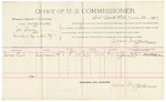 1892 March 30: Voucher, U.S. v. Joe Shaw, introducing spirituous liquor; includes cost of per diem and mileage; James Brizzolara, commissioner