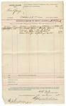 1892 June 11: Voucher, to H.H. York, deputy marshal; Doctor Adair, witness; Stephen Wheeler, clerk; J.M. Dodge, deputy clerk; Jacob Yoes, U.S. marshal