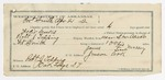 1892 April 21: Voucher, U.S. v. Felix Meeks, introducing spirituous liquor; includes costs of service as guard, service of warrant, mileage on writ; 4 days feeding 1 prisoner; James Massey, guard; Robert J. Topping, deputy marshal and witness to signature; Stephen Wheeler, commissioner; James Brizzolara, clerk