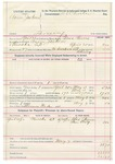 1892 May 07: Voucher, U.S. v. Aaron Jackson, larceny; includes costs of service of warrant, mileage on writ, feeding prisoner; Alex Beaver, Sam Wolf, witnesses; Clarence Warden, posse comitatus; Bass Reeves, deputy marshal; Stephen Wheeler, commissioner