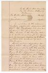 1891 February 23: Letter, U.S. v. John Harris, murder; calls for additional witness, Ed Martindale, to be subpoenaed; John Griffin, victim; J.C. Clark, notary public