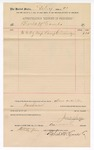 1891 February 1: Voucher, to Block & McCombs; includes cost for lamp chimneys for use at U.S. jail; Jacob Yoes, U.S. marshal