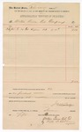 1891 March 6: Voucher, to Waters Pierce Oil Company; includes cost for oil used at jail; Jacob Yoes, U.S. marshal; Will D. Oldham, agent for oil company