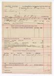 1891 November 18: Voucher, U.S. v. Ben Ashing, robbing U.S. mail; R.B. Creekmore, deputy marshal; James Brizzolara, commissioner