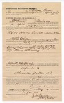 1891 April 30: Voucher, U.S. v. Henry Everett, assault with intent to kill; L.H. Ramey, deputy marshal; Jacob Yoes, U.S. marshal; Thomas Brown, posse comitatus; J.M. Karnes, notary public; Stephen Wheeler, commissioner; I.M. Dodge, deputy clerk; includes cost of mileage, service and subsistence for self, horse and prisoner