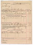1891 May 4: Voucher, U.S. v. Joel Cherry, violating U.S. internal revenue law; W.L. Johnson, deputy marshal;  E.B. Harrison, commissioner; Henry Martin, guard; Joe Martin, witnesses; includes cost of mileage, service and subsistence for self, horse and prisoner